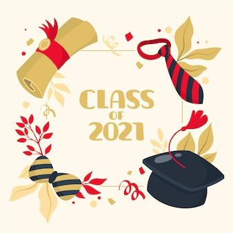 Cartoon class of 2021 frame