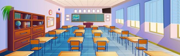 Cartoon classroom interior