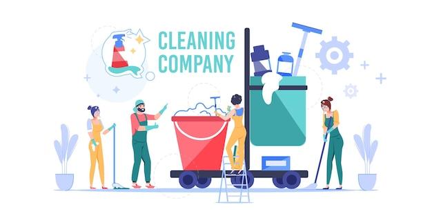 職場の漫画の清掃会社の従業員のキャラクター。