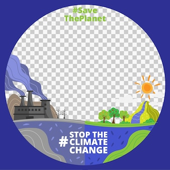 Cartoon climate change facebook frame