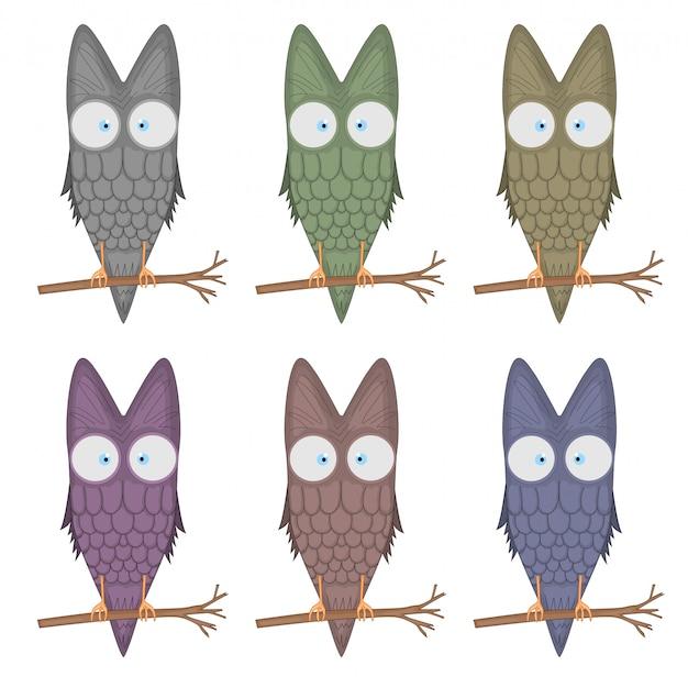 Cartoon clip art illustration of a cute owl mascot