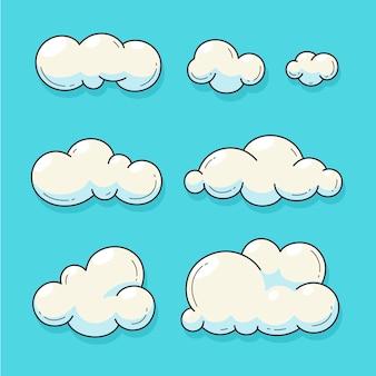 Collezione di nuvole di cartoni animati