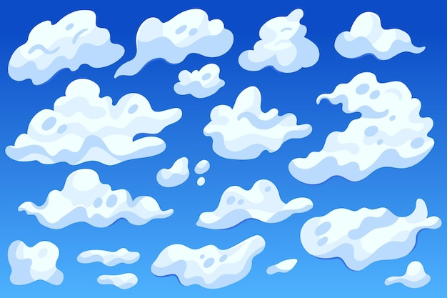 Cartoon clouds collection