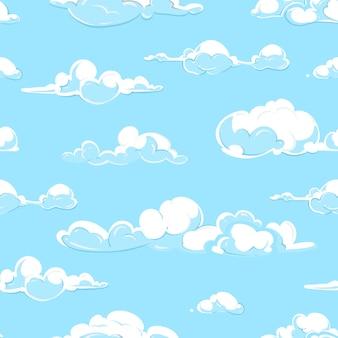 漫画の雲はシームレスなパターンを天