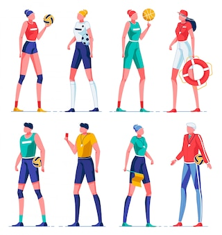 Мультяшные тренеры, обучающие различным видам спорта.
