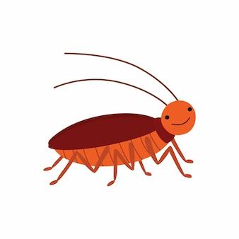 만화 바퀴벌레입니다. 벡터 일러스트 레이 션 흰색 배경에 고립입니다. eps10