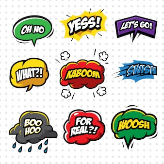 Cartoon comic sound effect bubble