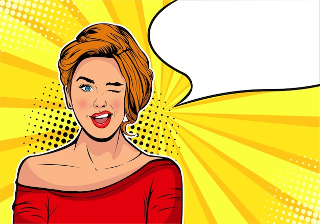 Cartoon comic vector illustration in pop art retro style