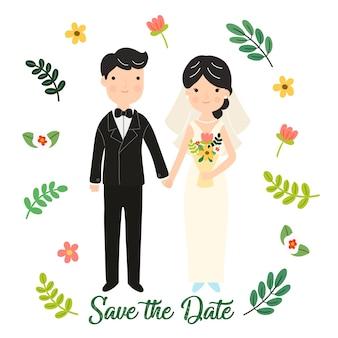 Cartoon concept marriage