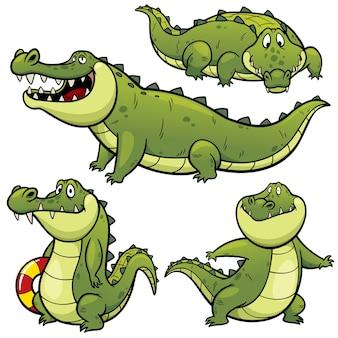 Cartoon crocodile character
