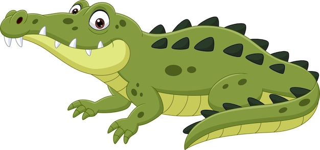 Cartoon crocodile isolated on white