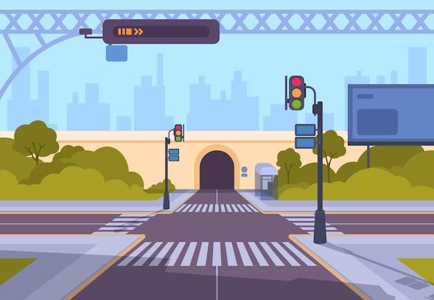 漫画の横断歩道のイラスト