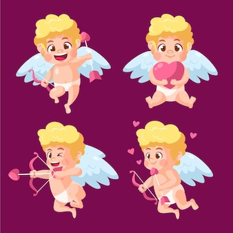 Cartoon cupid character collection