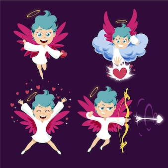 Cartoon cupid character illustrations collection