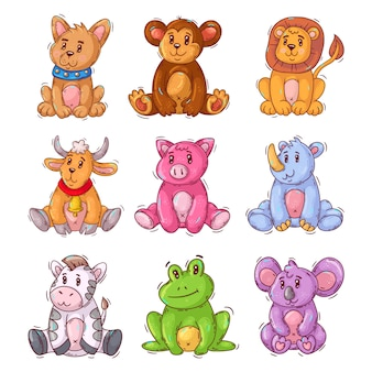 Cartoon cute baby animal