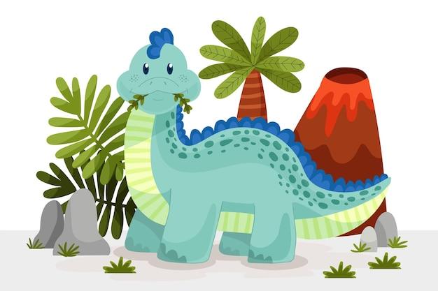만화 귀여운 아기 공룡