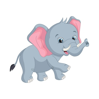 Cartoon cute baby elephant illustration