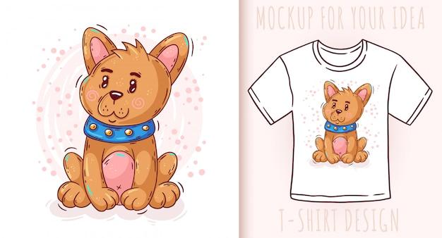 漫画かわいい赤ちゃん子犬。製品の素晴らしいデザイン。