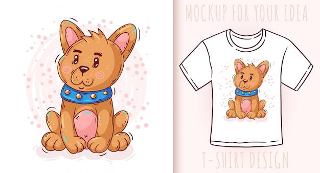 Cartoon cute baby puppy. great design for your product.