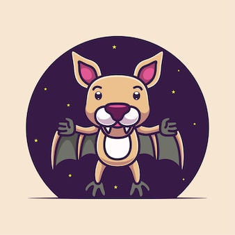 Cartoon cute bat