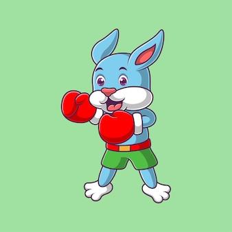 Мультфильм милый кролик боксер