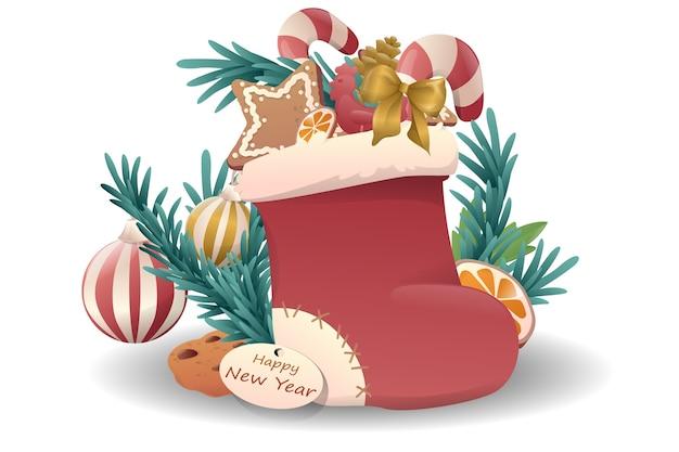 漫画かわいいクリスマス作曲。明けましておめでとうございます