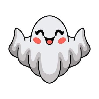 만화 귀여운 할로윈 백색 유령