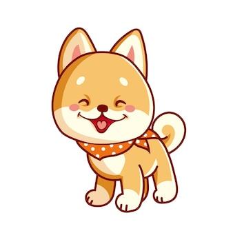 Cartoon cute little shiba inu 4