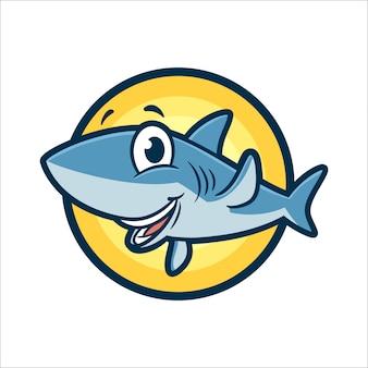 Cartoon cute shark