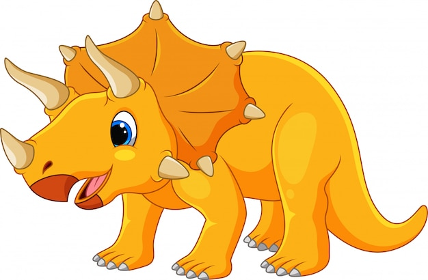 Cartoon cute triceratops