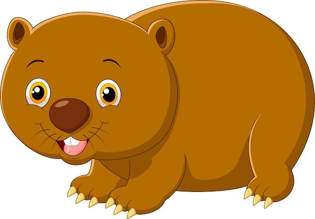 Cartoon cute wombat