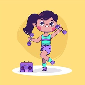 Мультяшный танцевальный фитнес дома