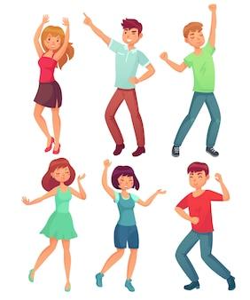 Cartoon dancing people