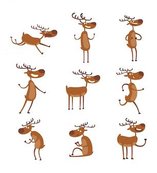 Cartoon deer  character