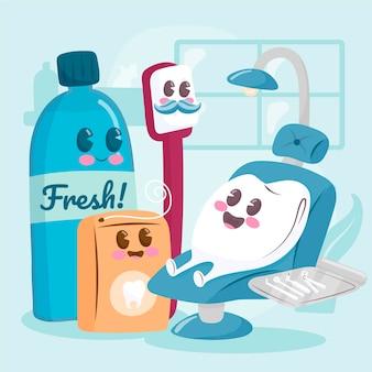 漫画の歯科治療の概念