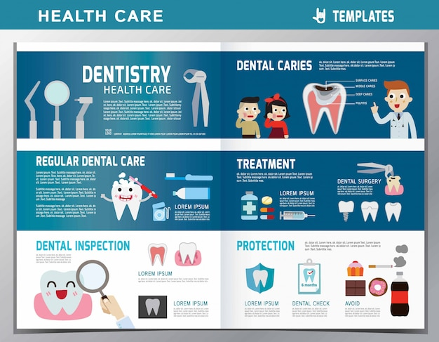 Cartoon dentist and patient illustration. dental care. Premium Vector