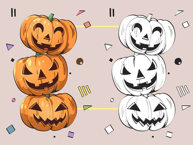 Cartoon design of pumpkin