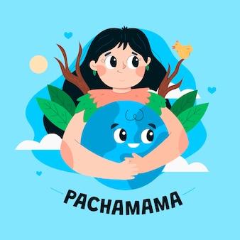 Иллюстрация шаржа диа де ла пачамама