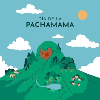 만화 dia de la pachamama 그림