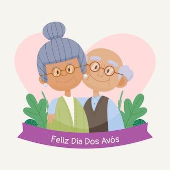 Cartoon dia dos avos illustrazione