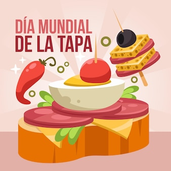 Cartoon dia mundial de la tapa illustrazione