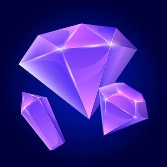 Мультяшные бриллианты для игровой иллюстрации