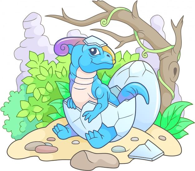 漫画恐竜パラサウロロフス