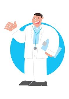 Cartoon doctor, vector