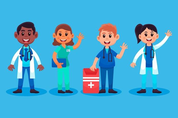Cartoon medici e infermieri