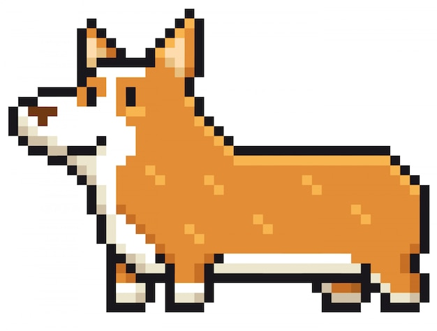 Мультяшная собака породы вельш корги