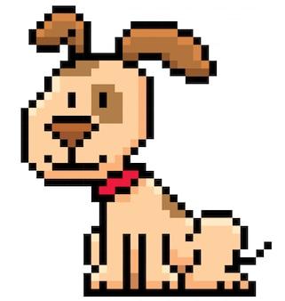 Cartoon dog pixel design