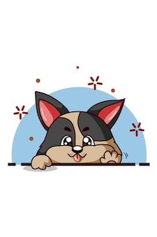 Мультфильм собака позирует иллюстрации