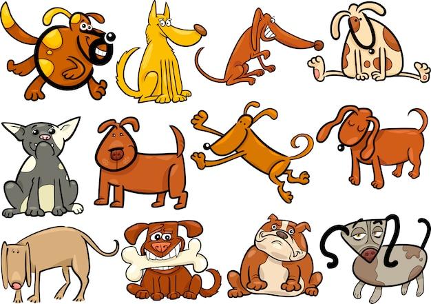 만화 개 또는 강아지 큰 세트
