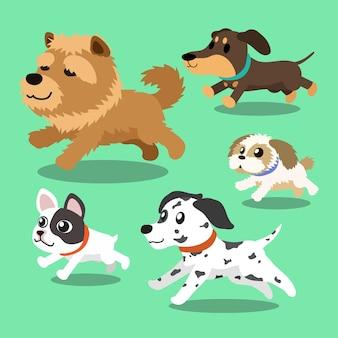 Мультяшные собаки бегут